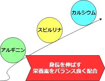 アルギニンやスピルリナやカルシウム配合